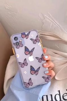 Cute Purple Butterfly Protective iPhone Case