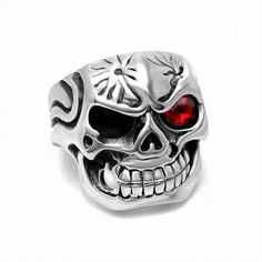 >> Click to Buy << Punk Biker Heavy skull sale 316L stainless steel ring vintage men jewelry wholesale Fast shipping STR-Y601071 #Affiliate