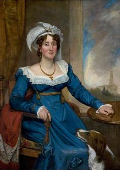 Mrs Francis Johnston, née Anne Barnes (1769–1841) by Thomas Clement Thompson Date painted: early 1820s