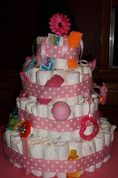 Baby Girl Diaper Cake by mgehrke