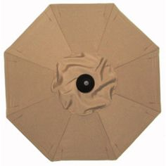 Galtech Sunbrella 11 x 8 ft. Aluminum Oval Patio Umbrella Sunbrella Antique Beige - 779BK-59