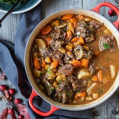 Beef casserole with Juniper berries add subtle heat and fruity piquancy to a warming winter casserole.