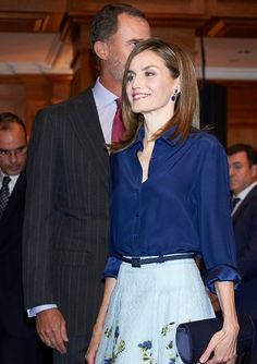 King Felipe and Queen Letizia attended the commemoration ceremony at Cervantes Institute