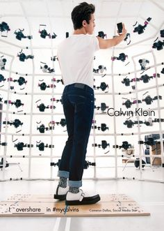 743368687f I overshare in Social media star Cameron Dallas wears the men s Calvin  Klein Jeans Sculpted Jean in the Fall 2016 global campaign.