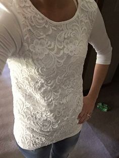 Love this top!  Love the style and the lace! Lace top. Give stitch fix a try: https://www.stitchfix.com/referral/5893422
