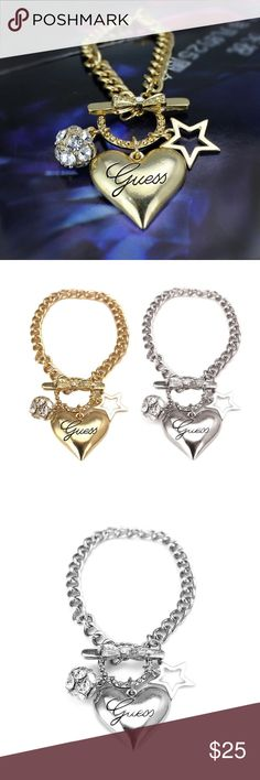 🆕Adorable Guess Bracelet New Guess Drill Ball Star Heart-shaped Bracelet Guess Jewelry Bracelets