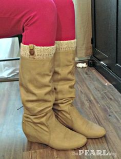 DIY boot socks - embellished