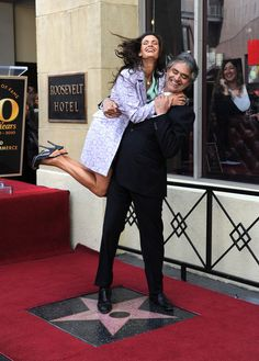 Andrea Bocelli and Veronica Berti Photos: Andrea Bocelli Honored On The Hollywood Walk Of Fame