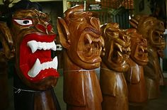 Carrancas, artesanato de madeira do Rio São Francisco - Norteste do Brasil