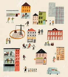 The Economist - Charlotte Trounce, design, print, texture, collage, city, townscape