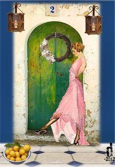 Dama de rosa
