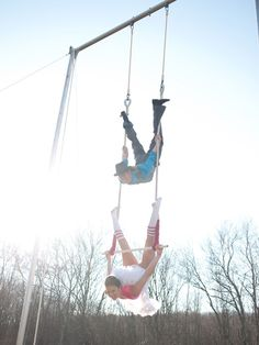 Impressive engagement photo!  Heck yes!  Now to just get Kevin to take some circus classes!  I'd love an aerial silks pic!!! :D