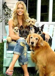 Denise Richards and her many doggies