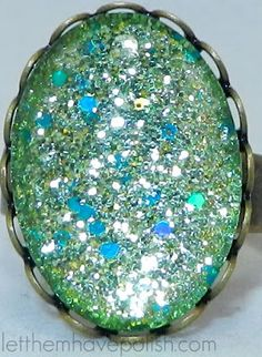 Nail polish use 22 - to make cool rings! love it! must try! www.eCrafty.com for glass tiles, bezels, bails, jewelry supplies