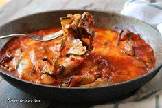 Parmigiana in padella con zucchine grigliate