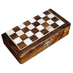 Two In One Wooden Board Game For Adults Chess Backgammon 8 X 8 Inches * Details can be found by clicking on the image.