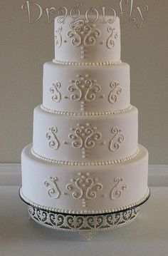 Scrollwork Wedding Cake by Signature SugarArt, via Flickr