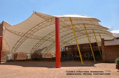 Fabric Tensile Cover - School recreation area by http://www.flexiblestructures.com/