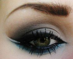 pretty blue under eye make up. so not for every day, but maybe a costume...