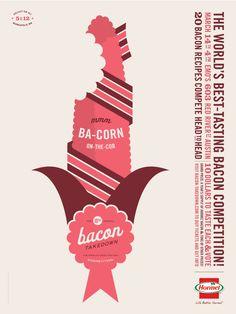 Bacon Takedown poster | Designer: Allan Peters
