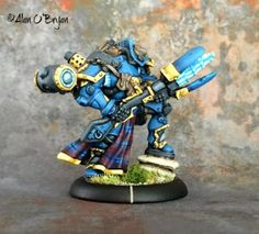 "Privateer Press Warmachine Cygnar Warcaster Major Markus ""Siege"" Brisbane [resculpt]"