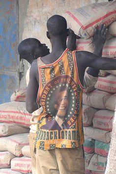 Young Man with Barack Obama Shirt - Gaoua - Burkina Faso