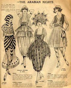 Four delightfully lovely 1920s Halloween Costume ideas. #vintage #Halloween #costumes