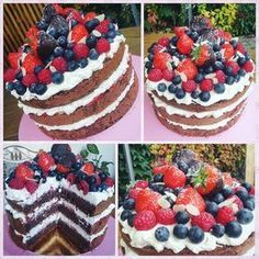 Pretty Cakes, Cheesecake Recipes, No Bake Cake, Waffles, Cake Decorating, Good Food, Food And Drink, Cupcakes, Sweets