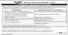 First Women Bank Limited FWBL Jobs 2020 Apply Online Latest Advertisement. The post First Women Bank Limited FWBL Jobs 2020 Apply Online Latest appeared first on Filectory