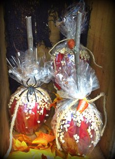 Faux candied apples by ye olde crow primitives