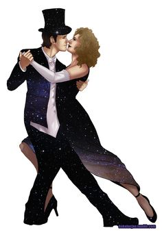 """Mr 'n' Mrs Timelord by alajna on DeviantArt -- ksc """"Oh, kiss me beneath the milky twilight.. Lead me out on the moonlit floor, lift your open hand.. Strike up the band and make the fireflies dance.. Silver moon's sparkling, so kiss me..."""" -- Cranberries - Kiss Me ♥♥"""