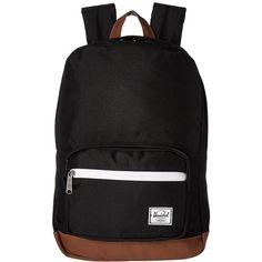 b48711e0a0c Herschel Supply Co. Pop Quiz Mid-Volume (Black Tan PU) Backpack