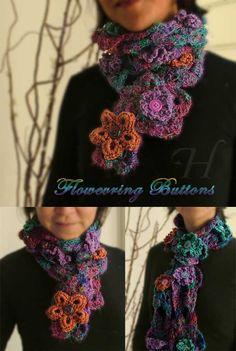 *Flowering Buttons* handmade scarf