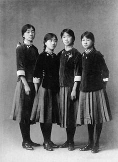 School uniforms in China, ca. 1920.