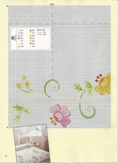 Cross Stitch Needles, Cross Stitch Charts, Cross Stitch Patterns, Cross Stitching, Cross Stitch Embroidery, Broderie Simple, Bargello, Table Covers, Bed Spreads