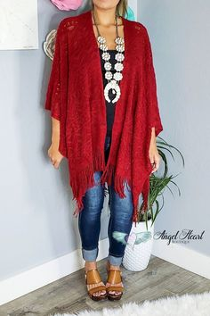 c194796ccaf4a My Favorite Fall Piece Shawl - Red. Plus Size Western WearCowgirl ...