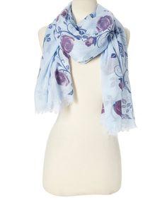 Baby Blue Floral Scarf #zulily #zulilyfinds