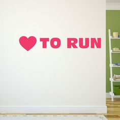 <3 to run? Then you will love our removable wall decal featuring our Heart to Run design!