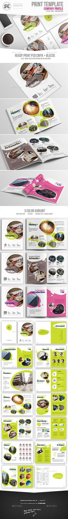 Company Profile Brochure Template InDesign INDD. Download here: https://graphicriver.net/item/company-profile/17384529?ref=ksioks