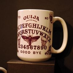 Ouija Spirit Board Ceramic Coffee Mug for sale by Spider and Fly at MoreThanHorror.com