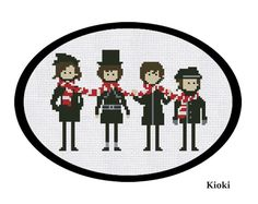 Cross Stitch Pattern The Beatles Instant Download by TinyNeedle, $5.00