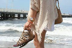 sandals + sweater