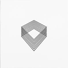 Geometric. Stacked. Lines. Diamonds.