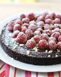 A Chocolate Raspberry Torte Made with Love