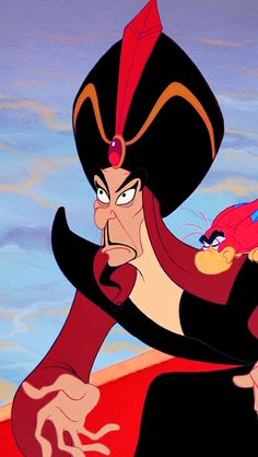 "Jafar and Iago from ""Aladdin"""