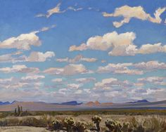 Seeking superior fine art prints of Clouds of a Summer Afternoon by Maynard Dixon? Maynard Dixon, Southwest Art, Landscape Paintings, Landscape Art, Oil Paintings, Art Auction, American Art, Online Art, Les Oeuvres