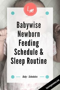 Babywise Schedule Sample For A Newborn - When Should They Sleep? - Newborn Sleep Routine: Birth – 2 Week Old Baby Sample Schedule – Learning Momma - Week Schedule, Baby Schedule, Baby Feeding Schedule, Newborn Schedule Sleep, Nursing Schedule, Baby Checklist, Toddler Schedule, Nursing Tips, Routine