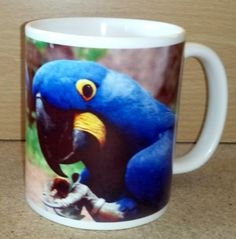 Hyacinth Macaw Parrot Coffee Mug Parrot, Coffee Mugs, Gifts, Parrot Bird, Presents, Coffee Cups, Favors, Coffeecup, Gift
