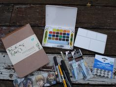 My watercolor supplies by unconventionalkatie, via Flickr