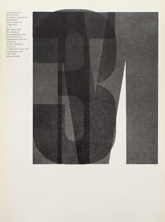 TM SGM RSI, Typographische Monatsblätter, issue 3, 1967. Cover designer: Horst Hohl. Use of 'Ruder Grotesk', a wood type designed during an evening class by Emil Ruder and students in the early fifties. It was never commercially produced and was used exclusively at the Basel school workshop.